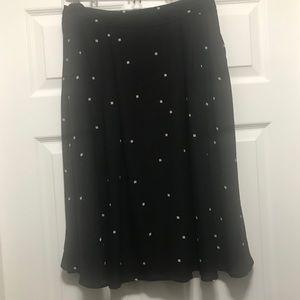 Daniel Rainn Black /Beige Midi Skirt